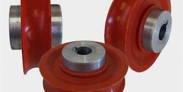 Tehnični izdelki iz Poliuretana, Gume ali kombinacije omenjenih materialov.