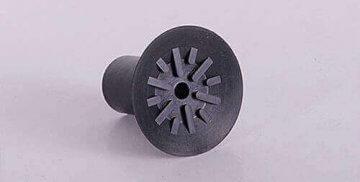 Tehnični izdelki iz Gume, Poliuretana ali kombinacije. Po meri. črn